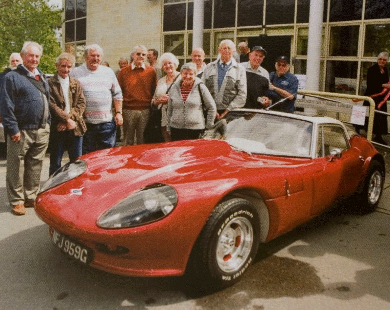 Former factory team pose with a 3 litre as made at Bradford Upon Avon